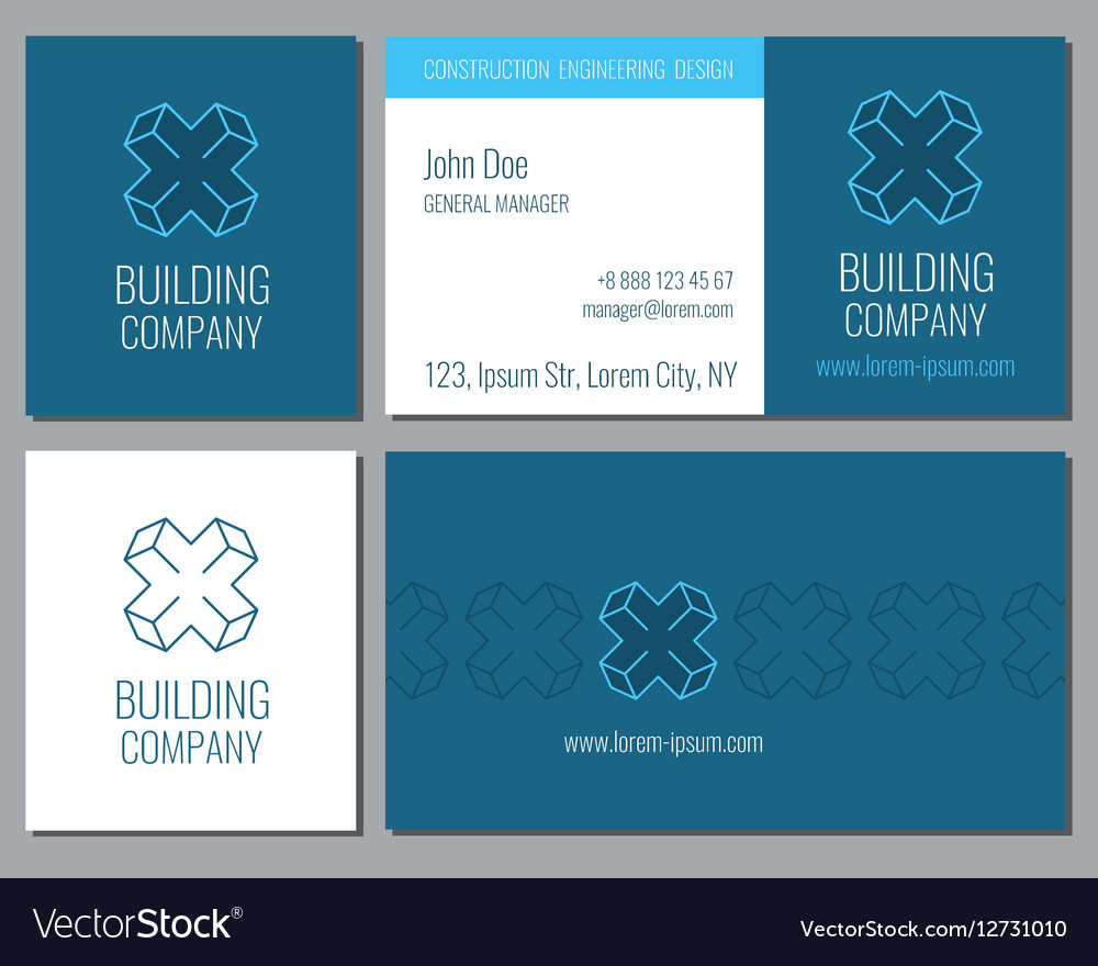 Creative business card template with 3d royalty free vector creative business card template with 3d vector image cheaphphosting