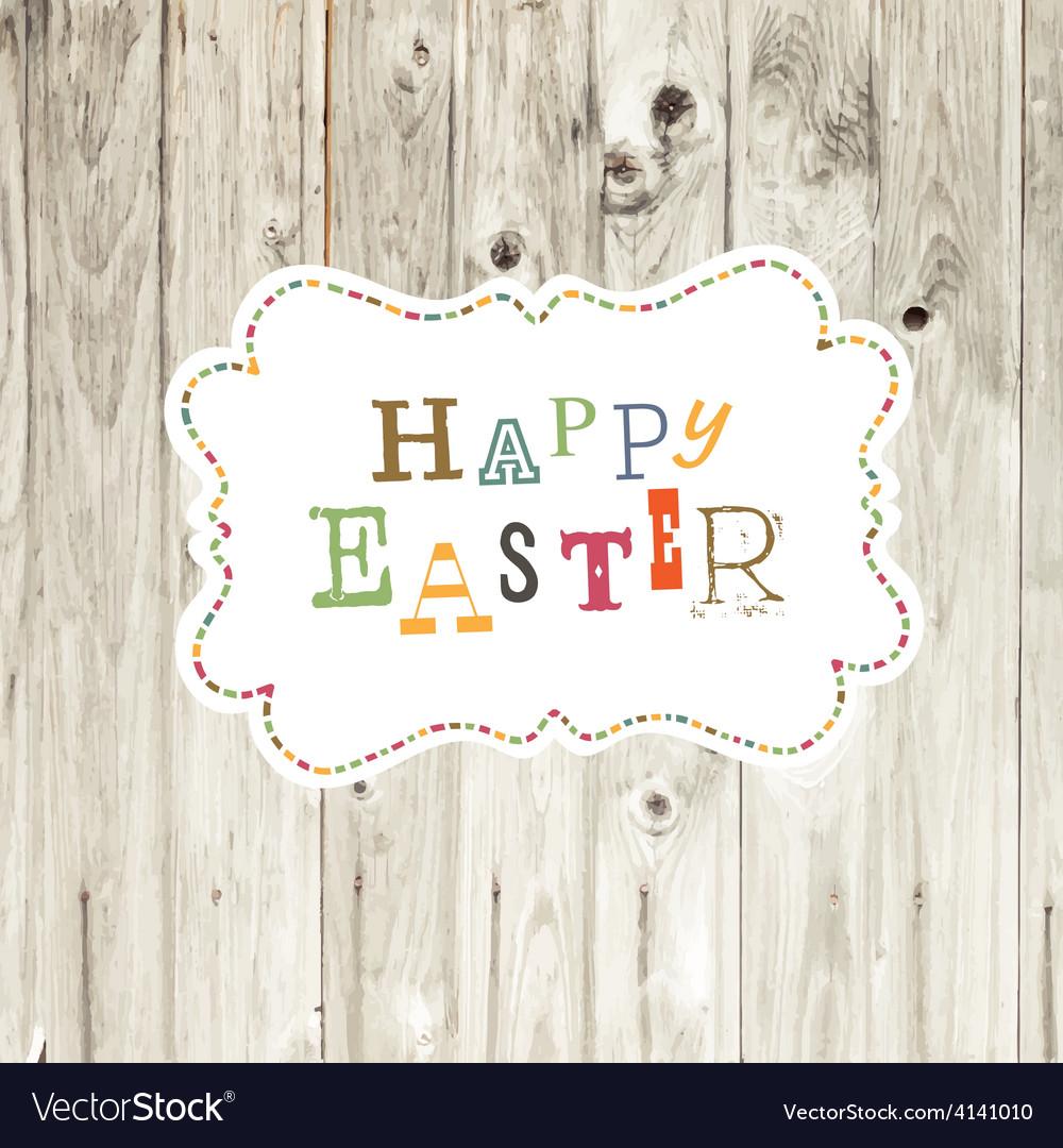Easter card wooden backdrop