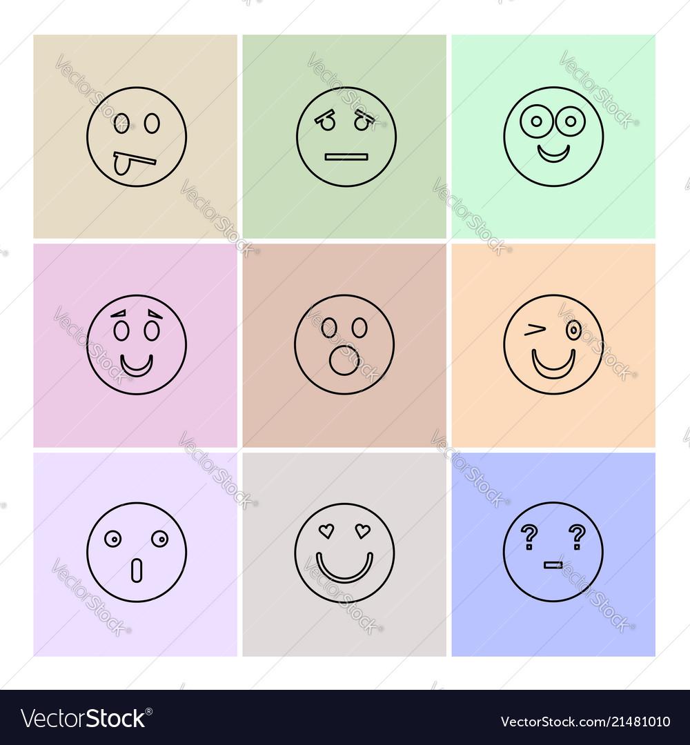 Emoji emoticons eomtions smileys eps icons set vector image on VectorStock