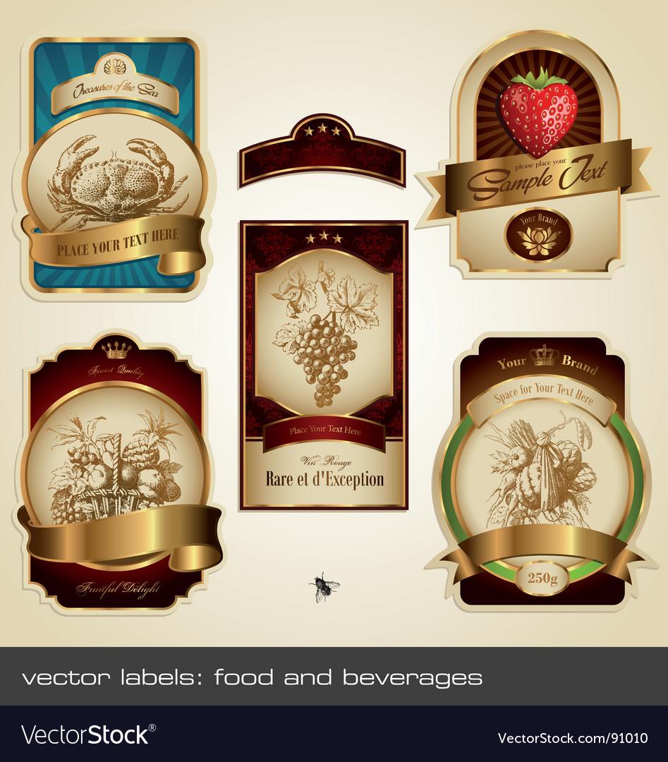 Food and beverage labels