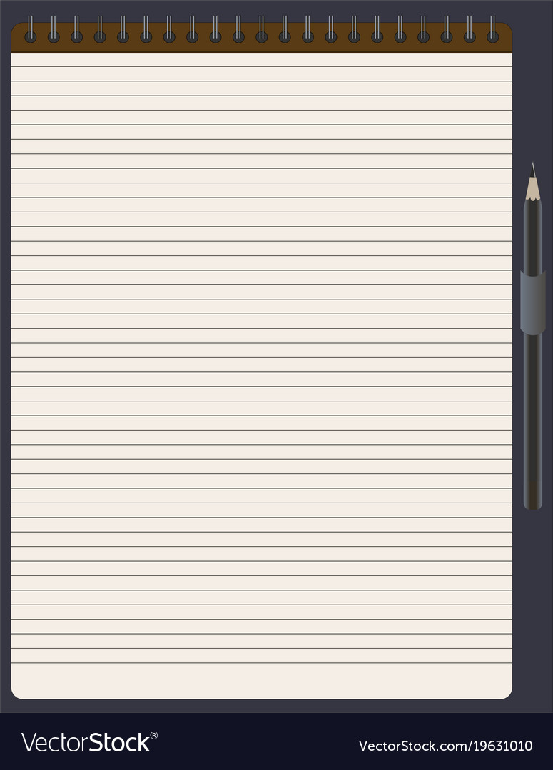 Notepad for notes with pencil business people vector image