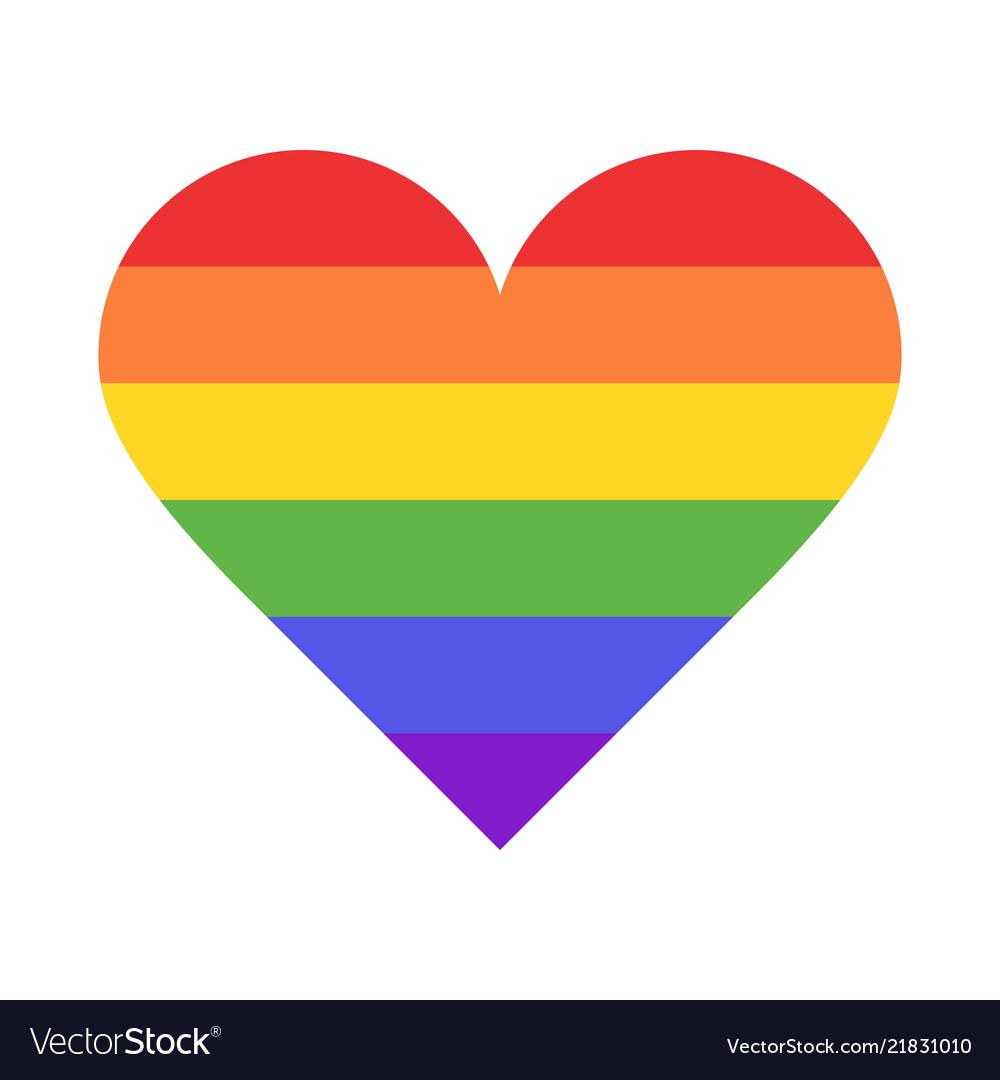 Rainbow heart Royalty Free Vector Image - VectorStock