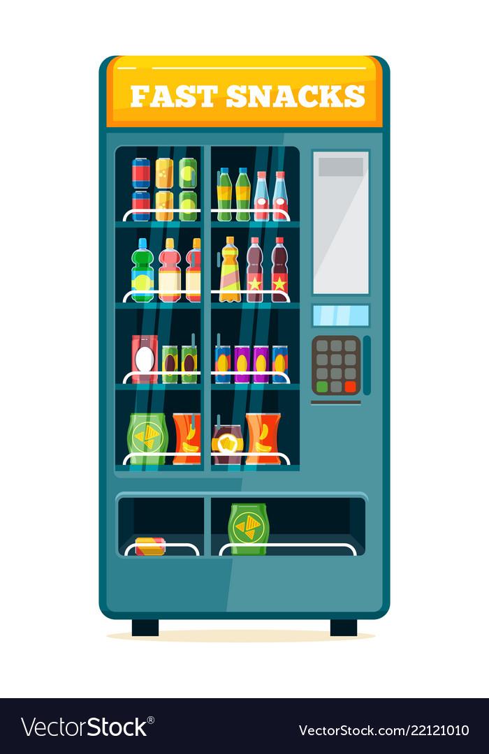 Vending food drink machine chips soda snack