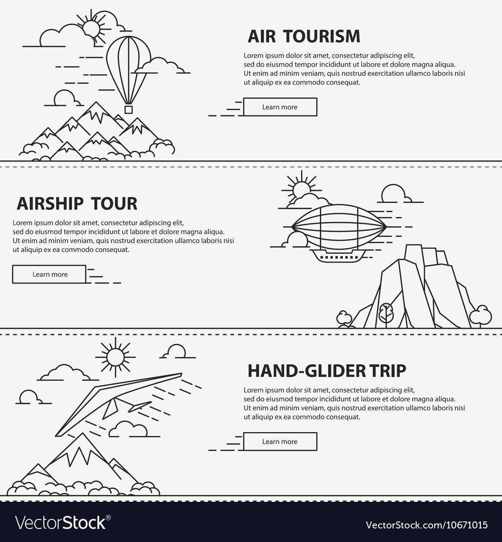 Airship tourism banner