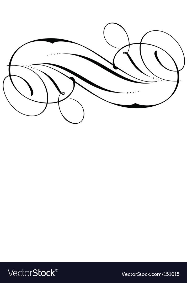 Decorative script detailed