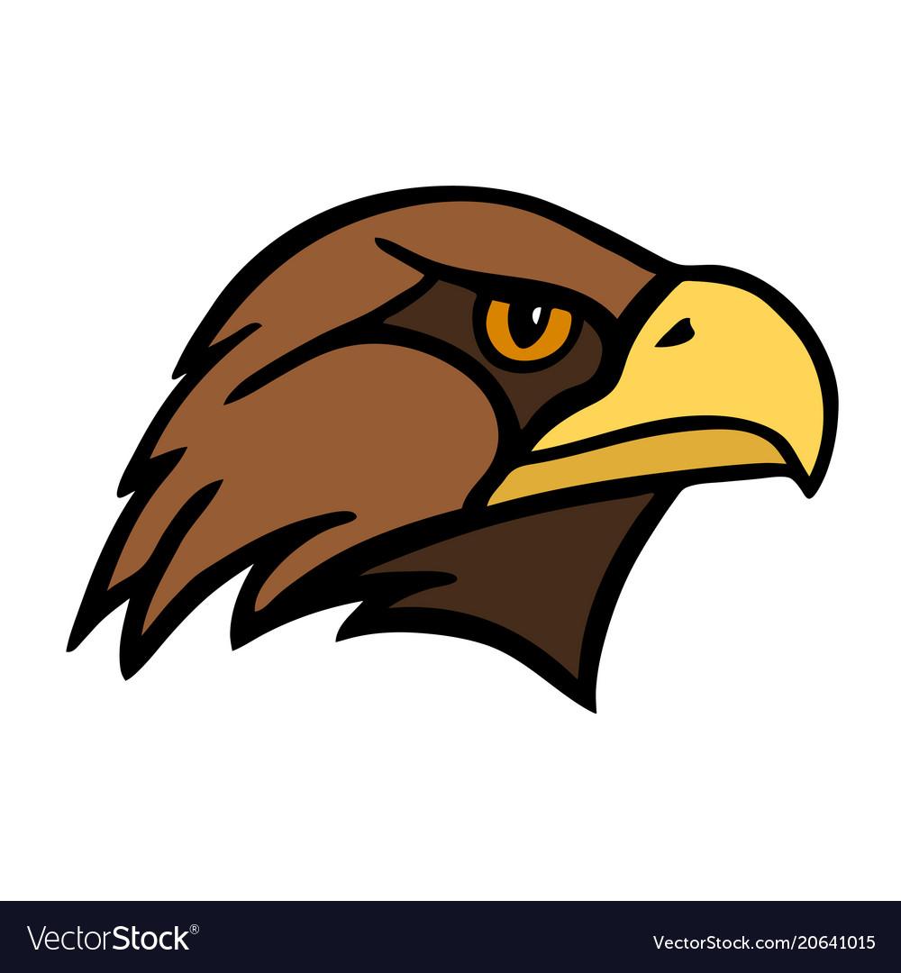 Eagle the head of a bird of prey