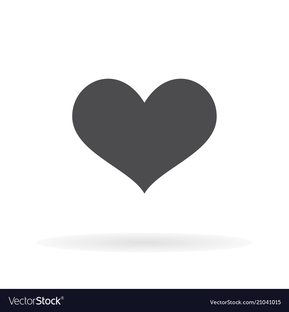 Flat icon heart for web business finance and
