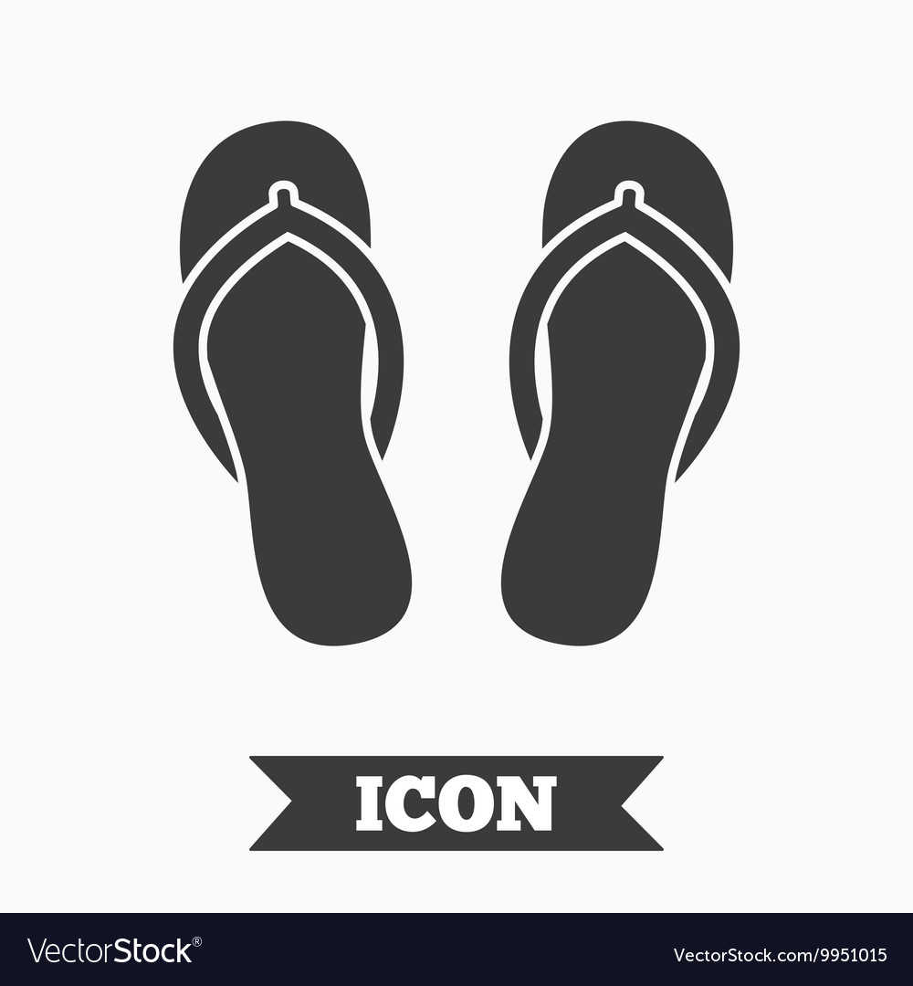 54af25c64a1862 Flip-flops sign icon Beach shoes Royalty Free Vector Image