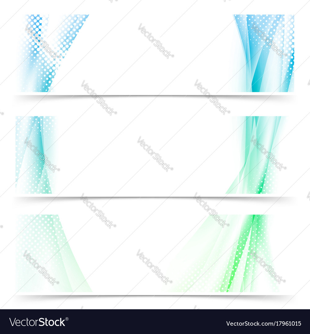 Fresh wave wibe spring abstract flyer cards
