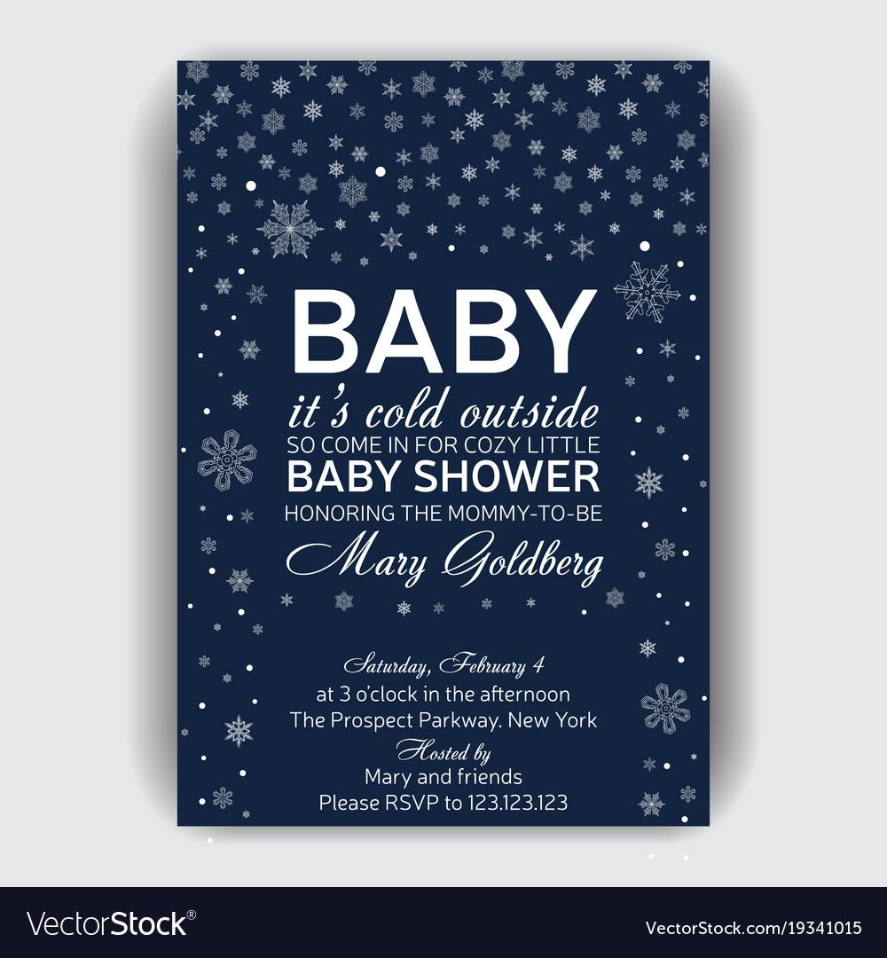 Invitation card for baby shower royalty free vector image invitation card for baby shower vector image stopboris Choice Image