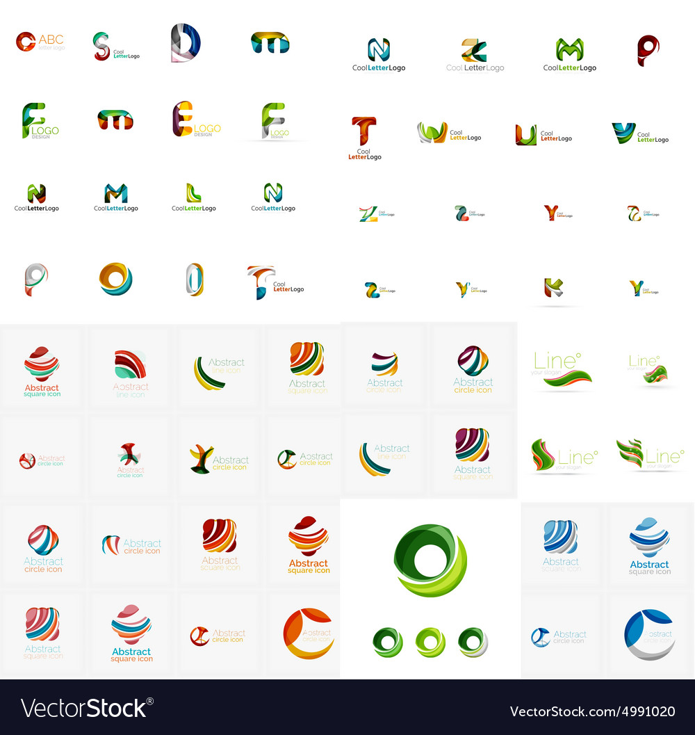 Abstract company logo mega collection type