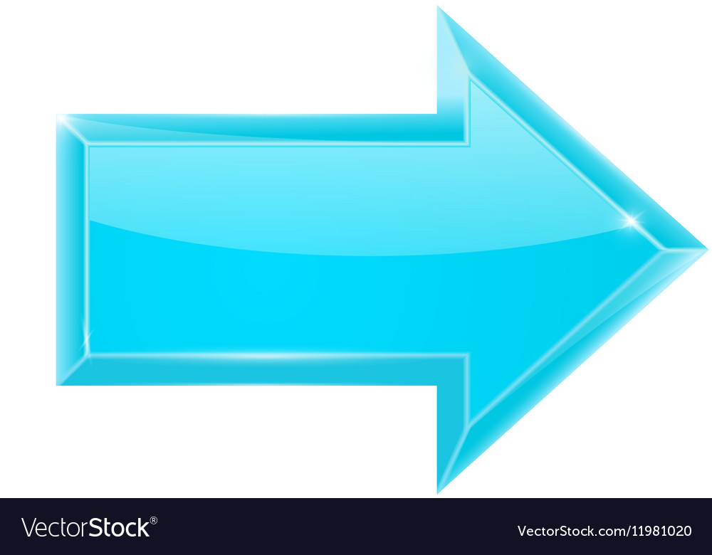 Blue arrow Right vector image