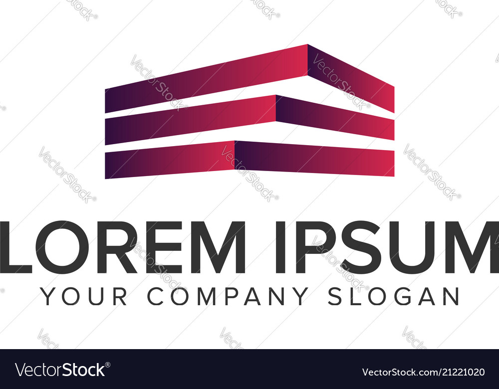 Building logo design concept template