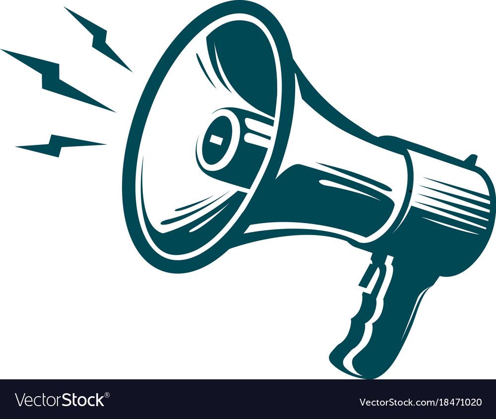megaphone loudspeaker symbol advertising vector image vectorstock