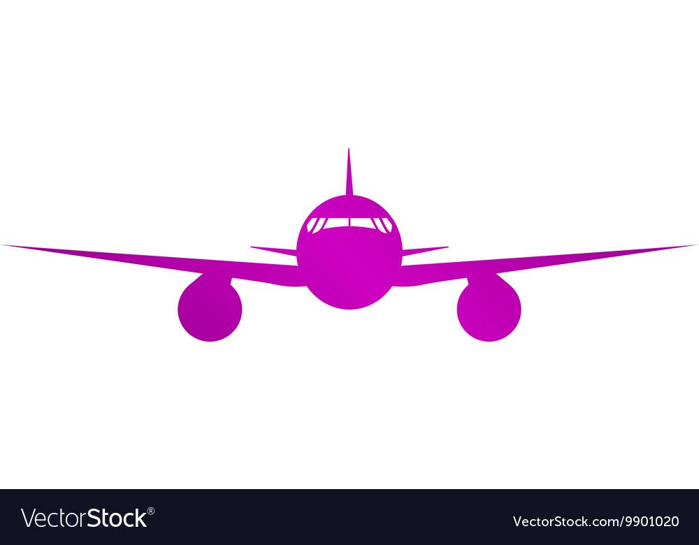 Plane icon Flat design style