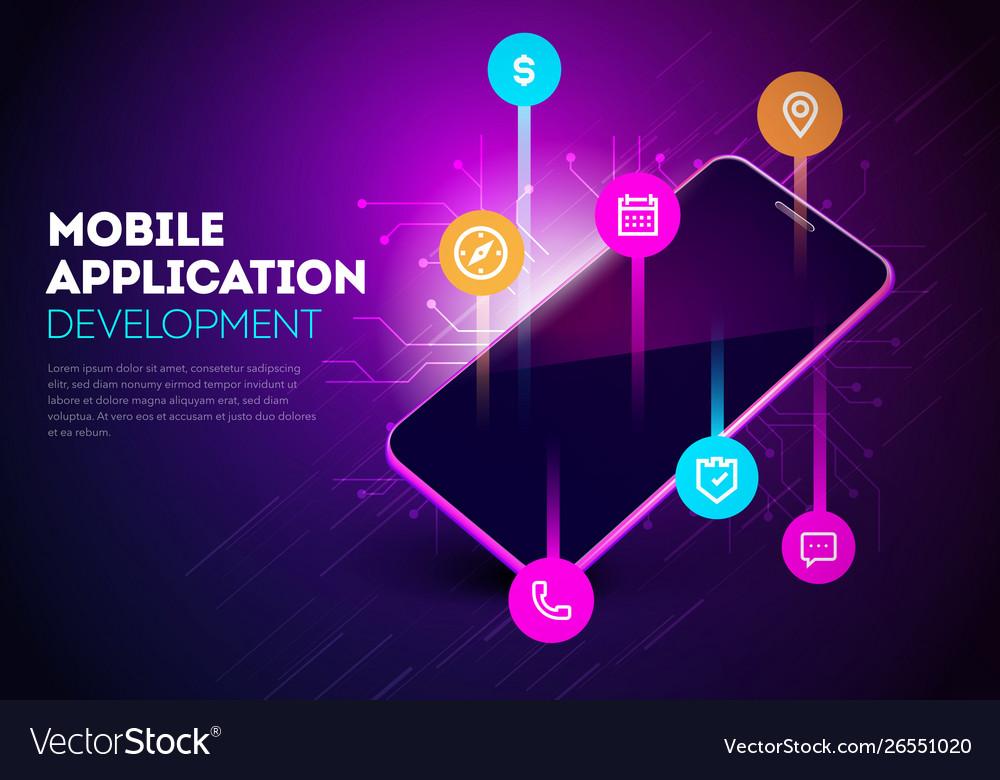 Smartphone with mobile app development