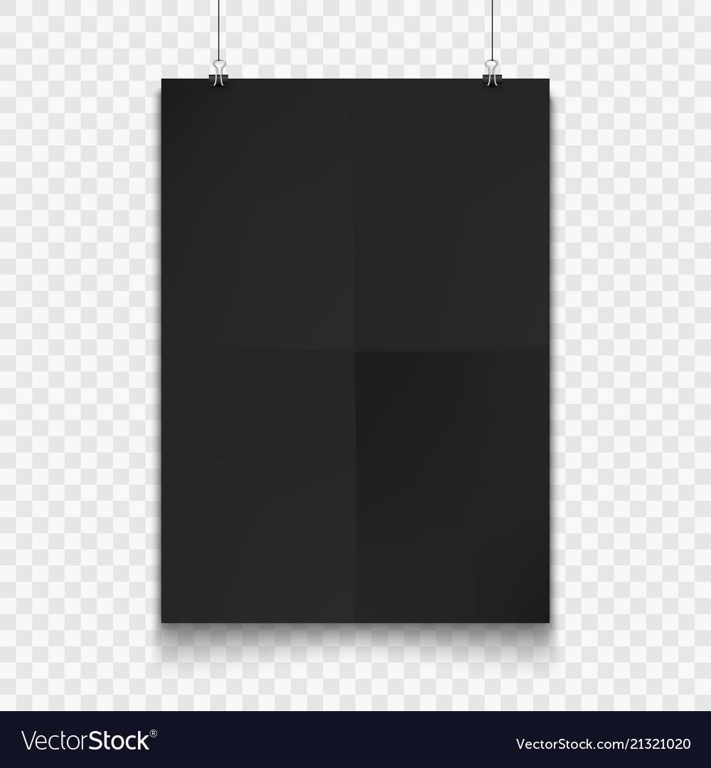 Stock realistic mockup poster