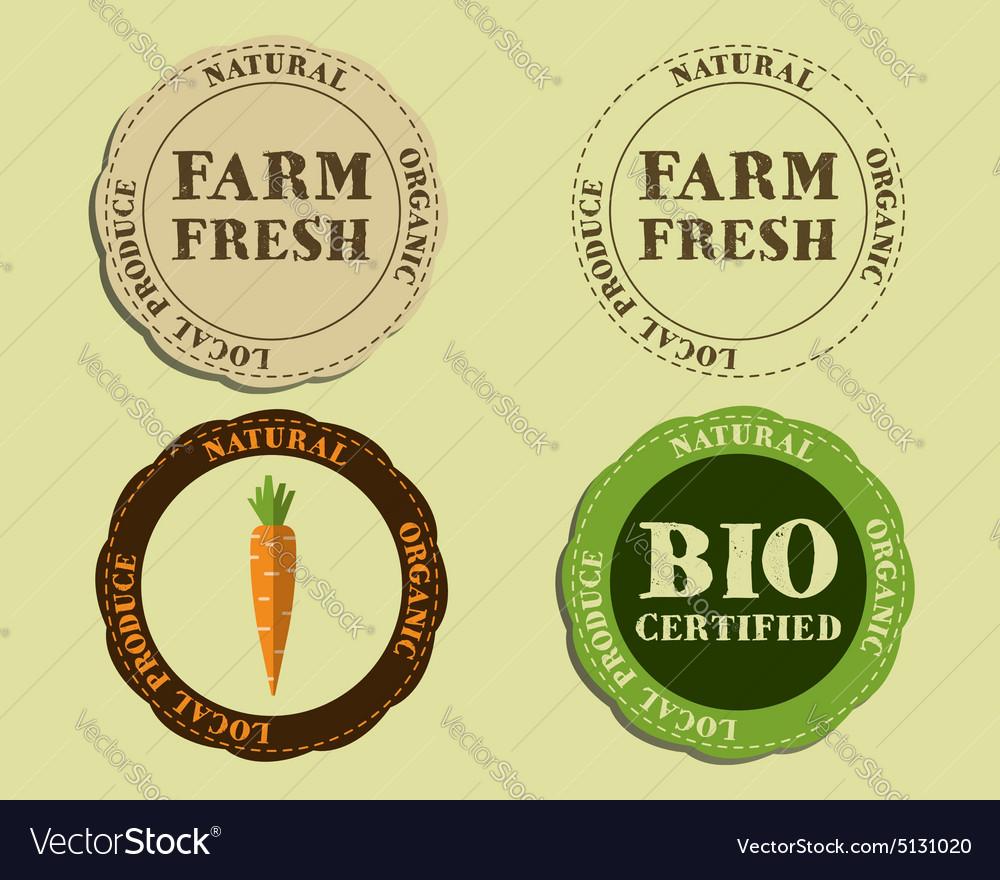 Stylish Farm Fresh logo and badge templates with