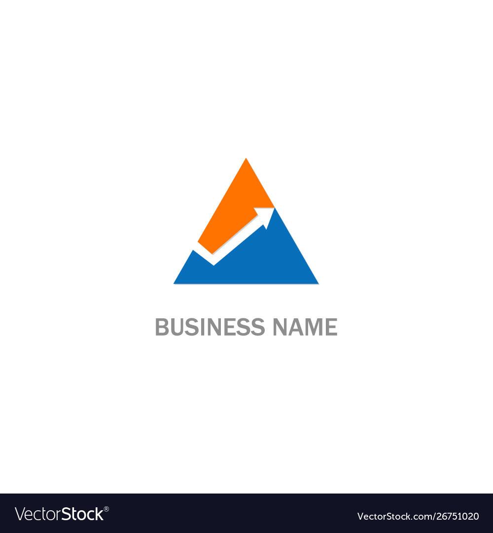 Triangle arrow progress logo