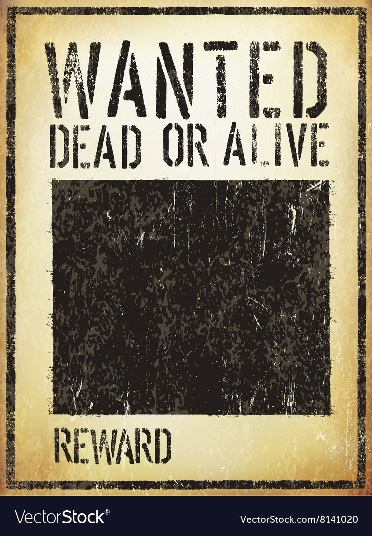 Wanted Vintage Western Poster Aged Template vector image