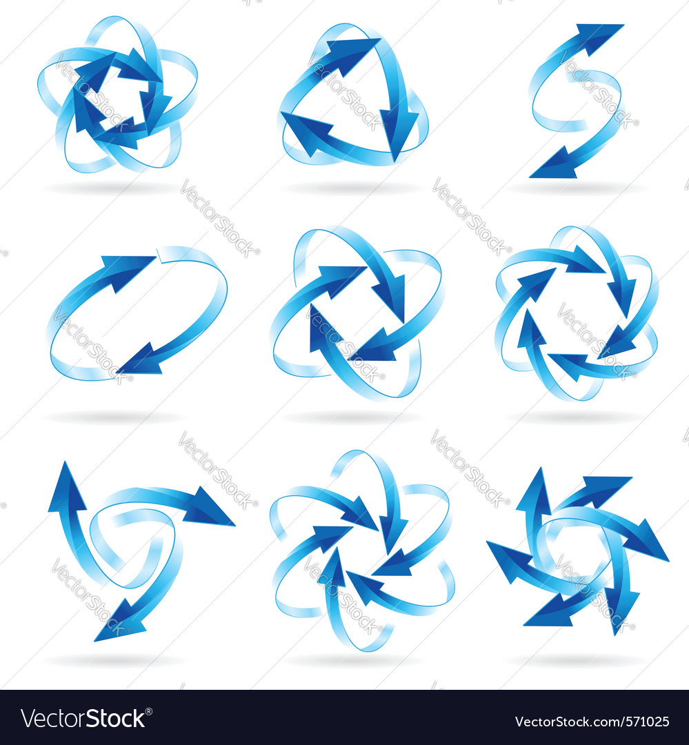 Arrow circles vector image
