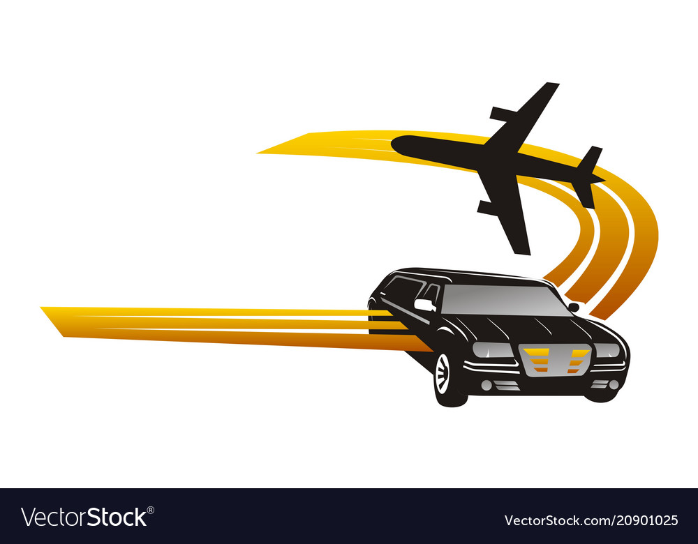 Car Plane Service Tour Travel Royalty Free Vector Image