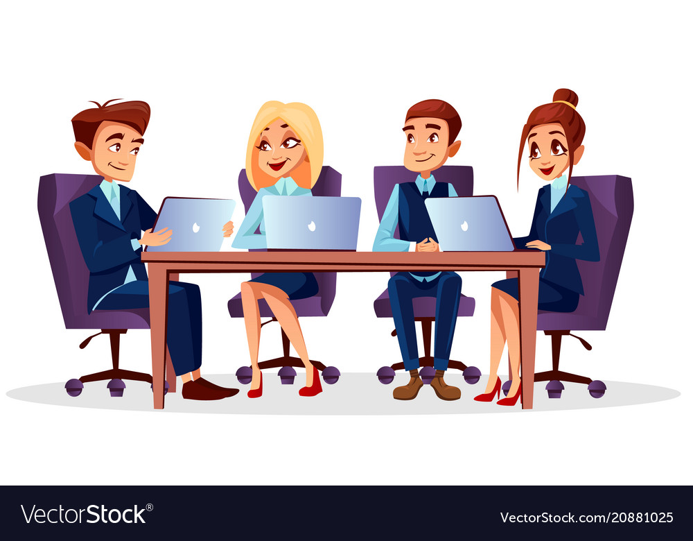 cartoon business meeting conference royalty free vector