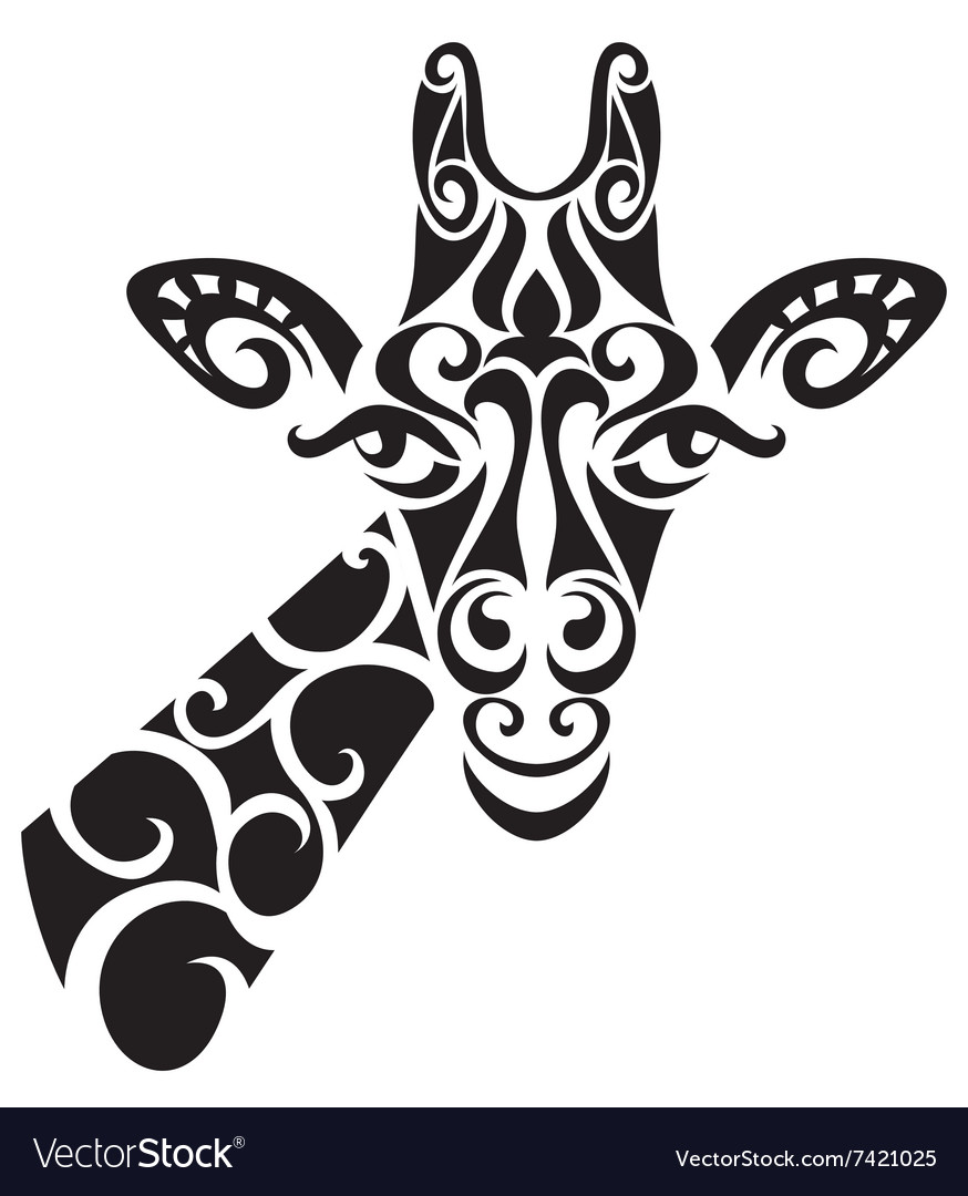 Decorative ornamental giraffe silhouette