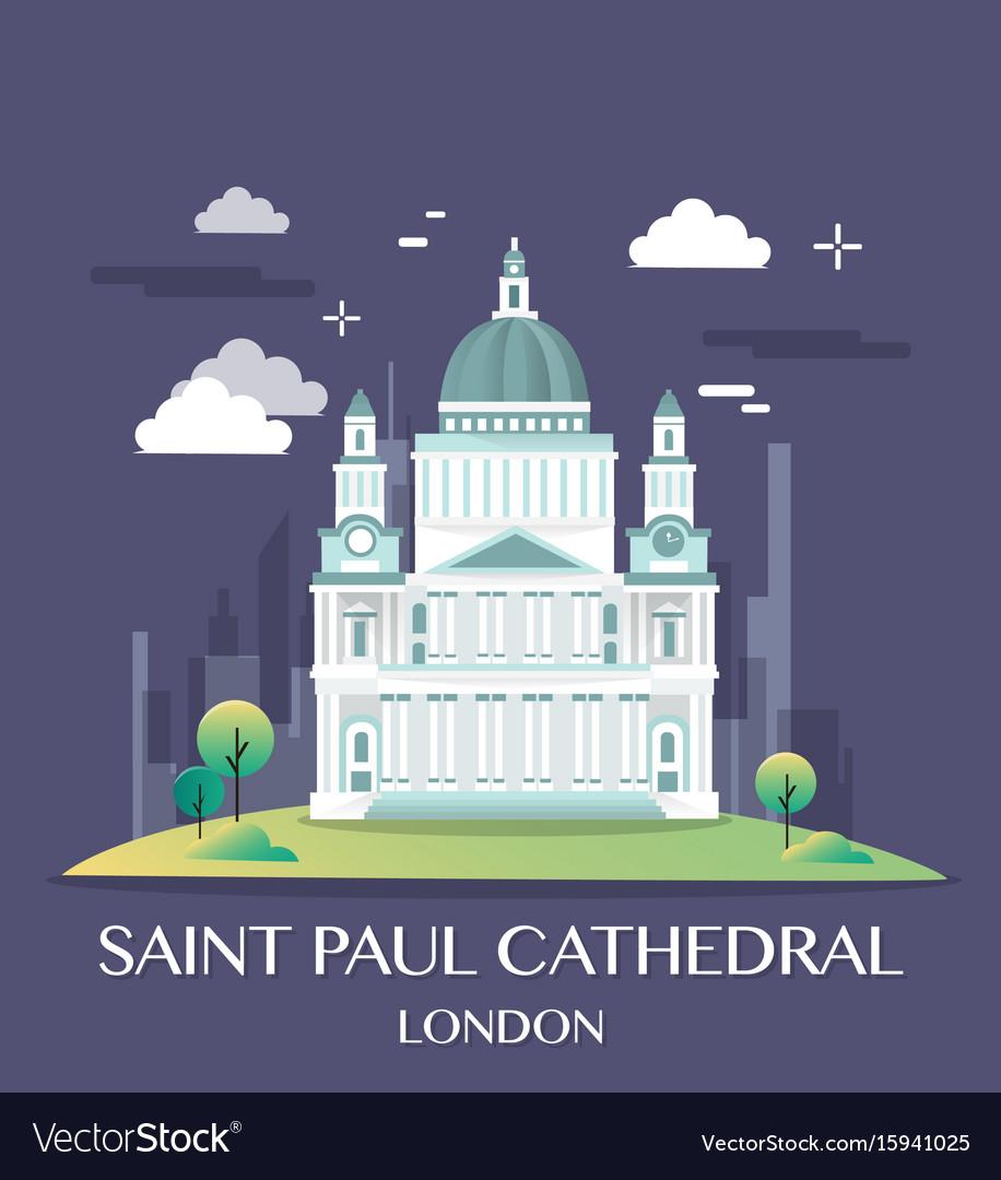 Famous london landmark saint paul
