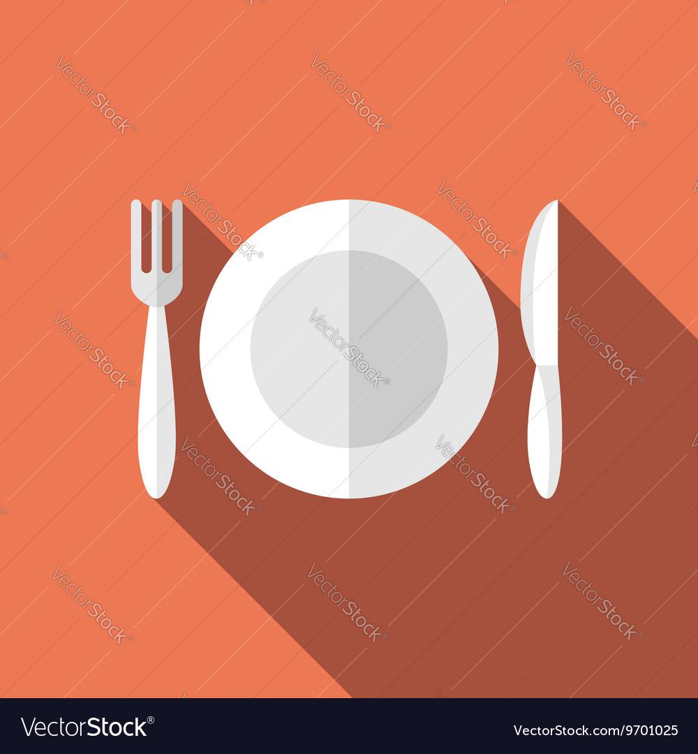 Flat plate fork knife