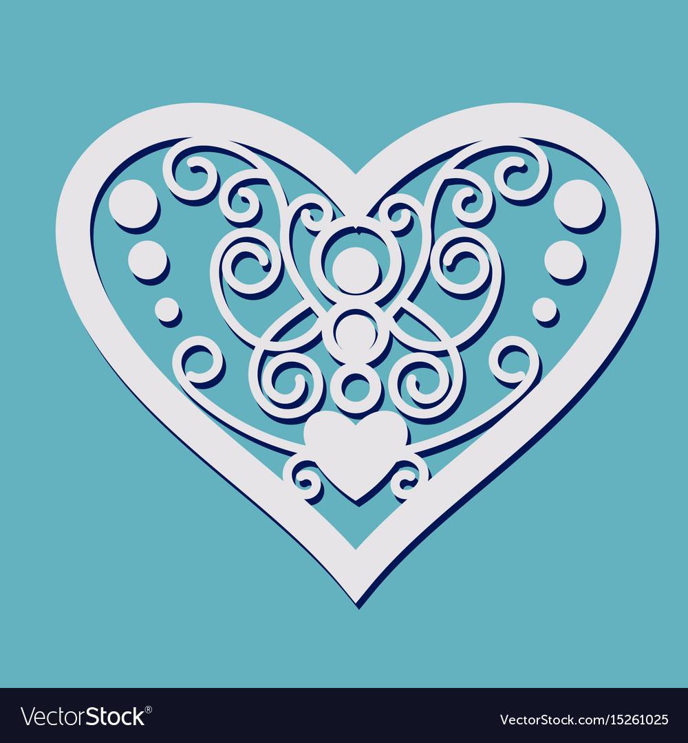 Lace heart shape