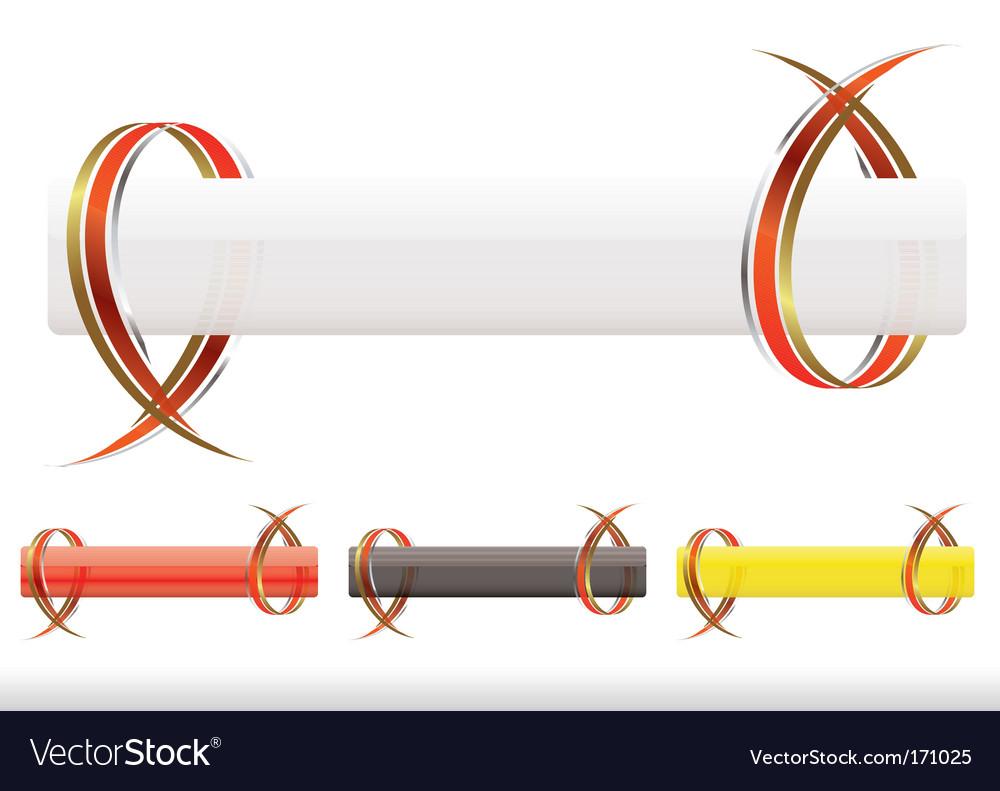 Ribbow strip vector image
