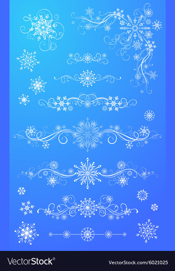 Snowflake page dividers and decorations