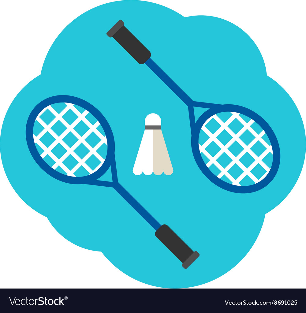 Sport Concept Badminton Rackets and shuttlecock