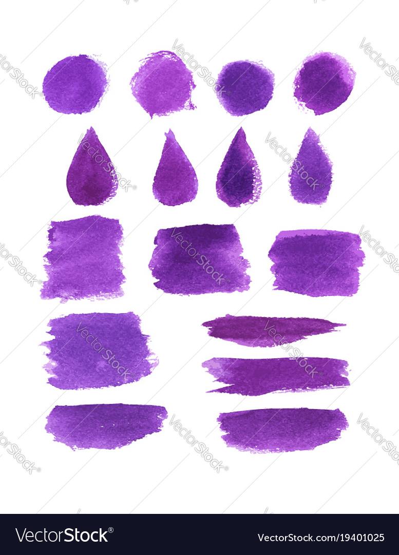 Watercolor brush stroke stain and splatter