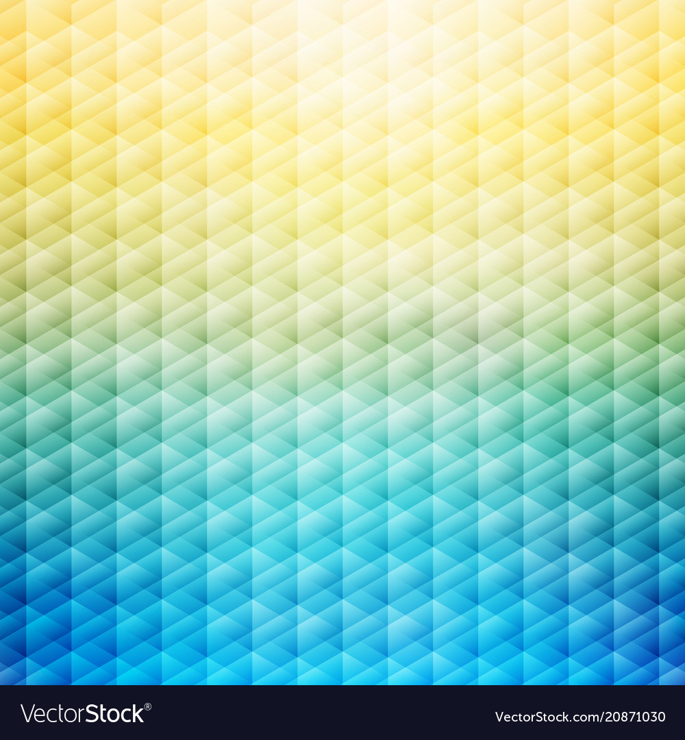 Abstract summer tropical blue and yellow vector image