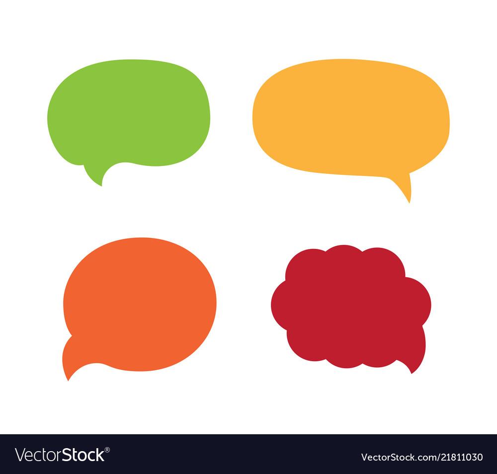 Cartoon Bubble Speech Dialog Messages Royalty Free Vector
