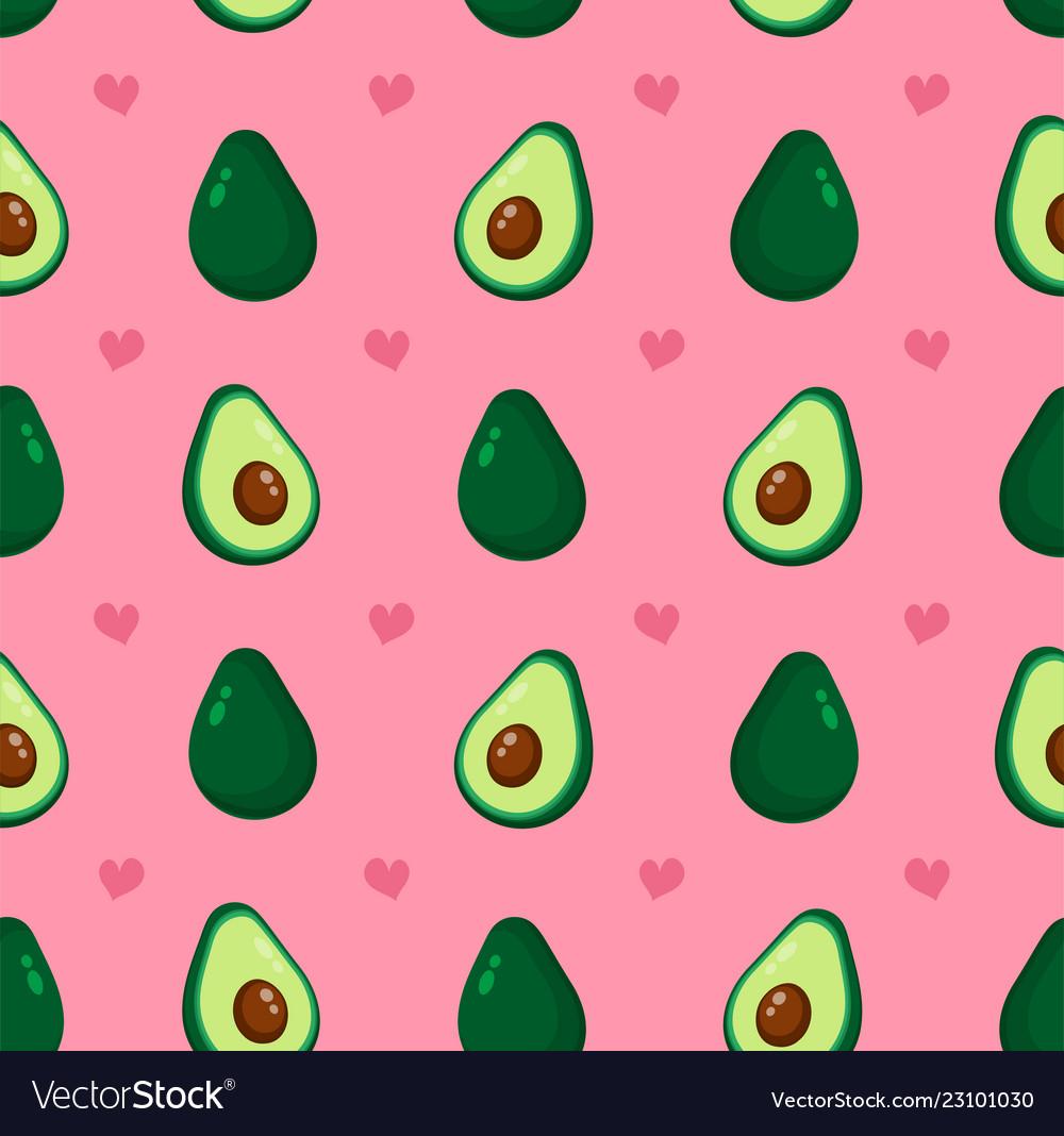 Cute beauty avocado and hearts
