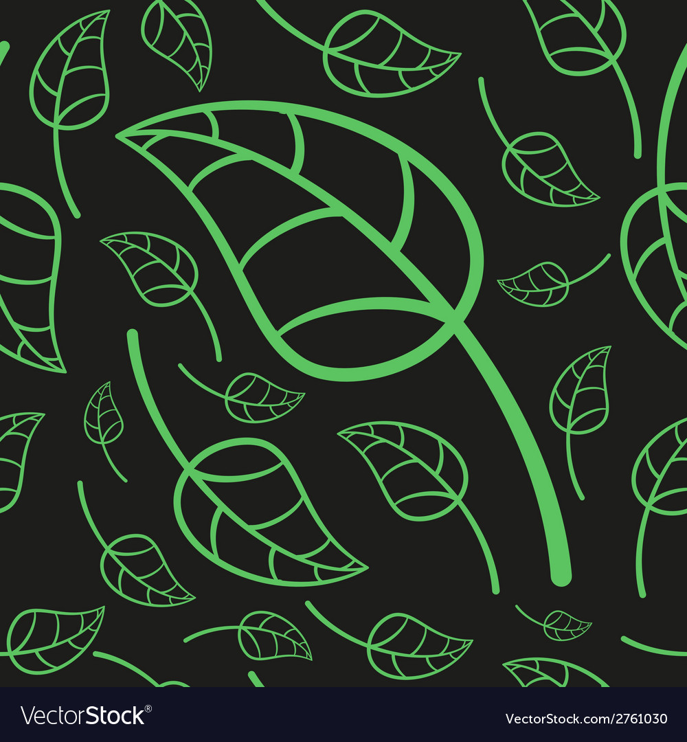 Effective Green Leaves Seamless Pattern