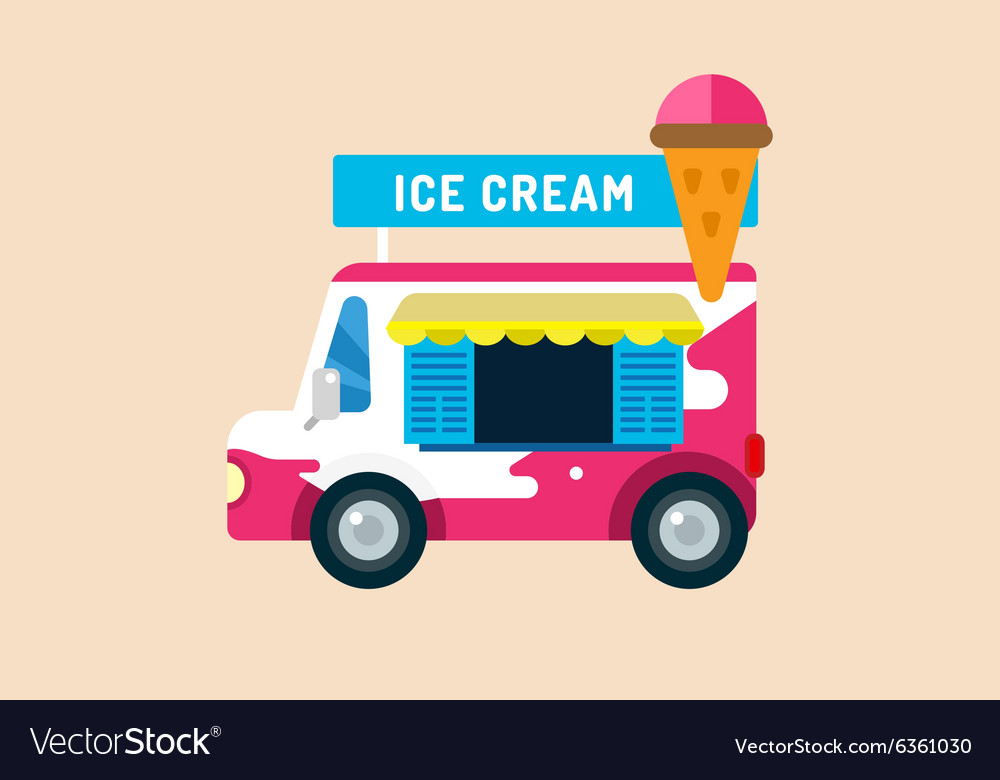 ice cream truck van royalty free vector image vectorstock