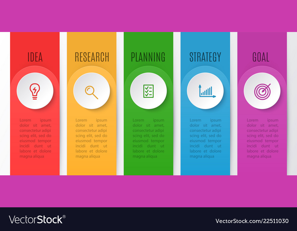Infographics chart for business creative concept