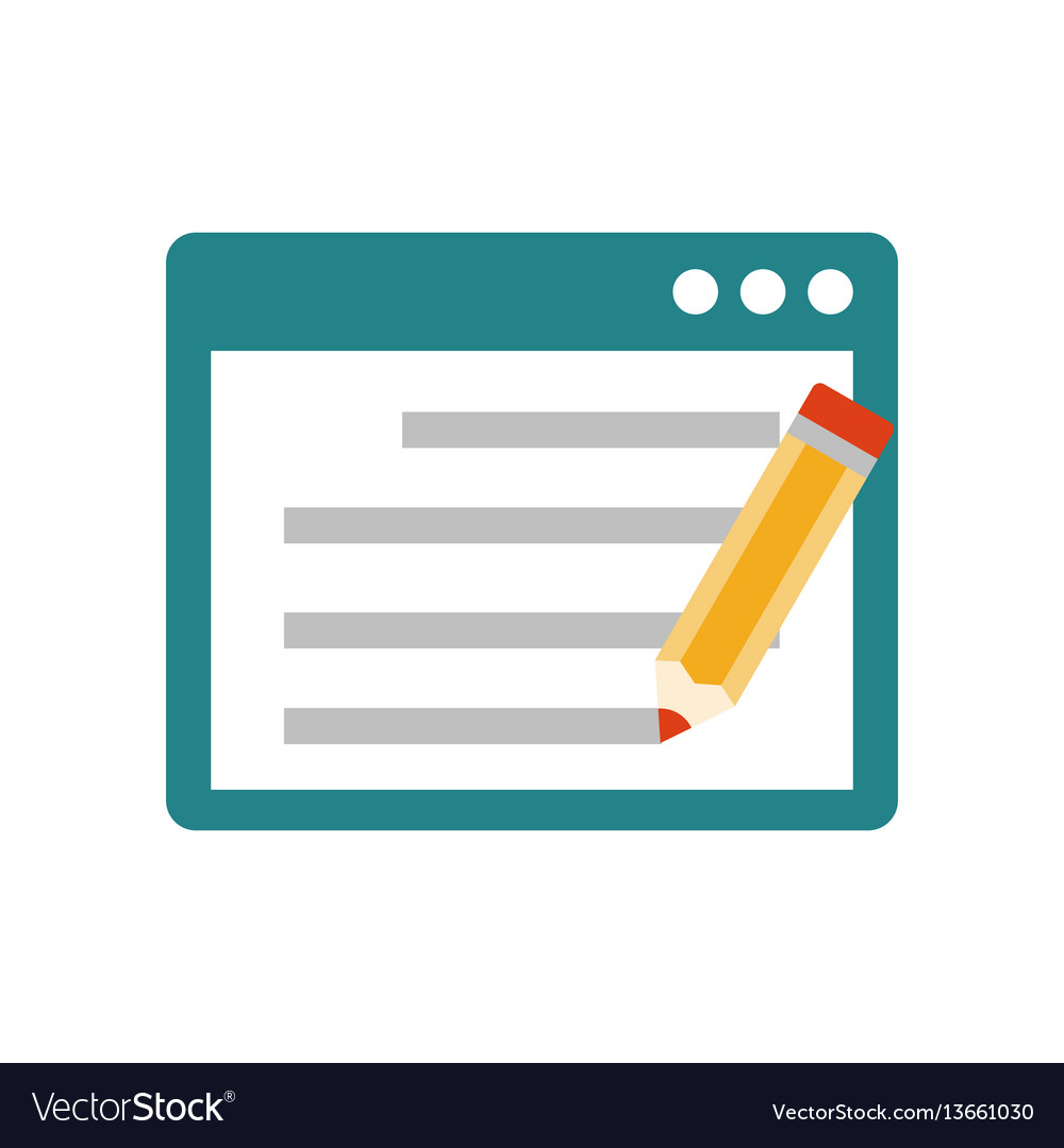 Seo copywriting flat icon