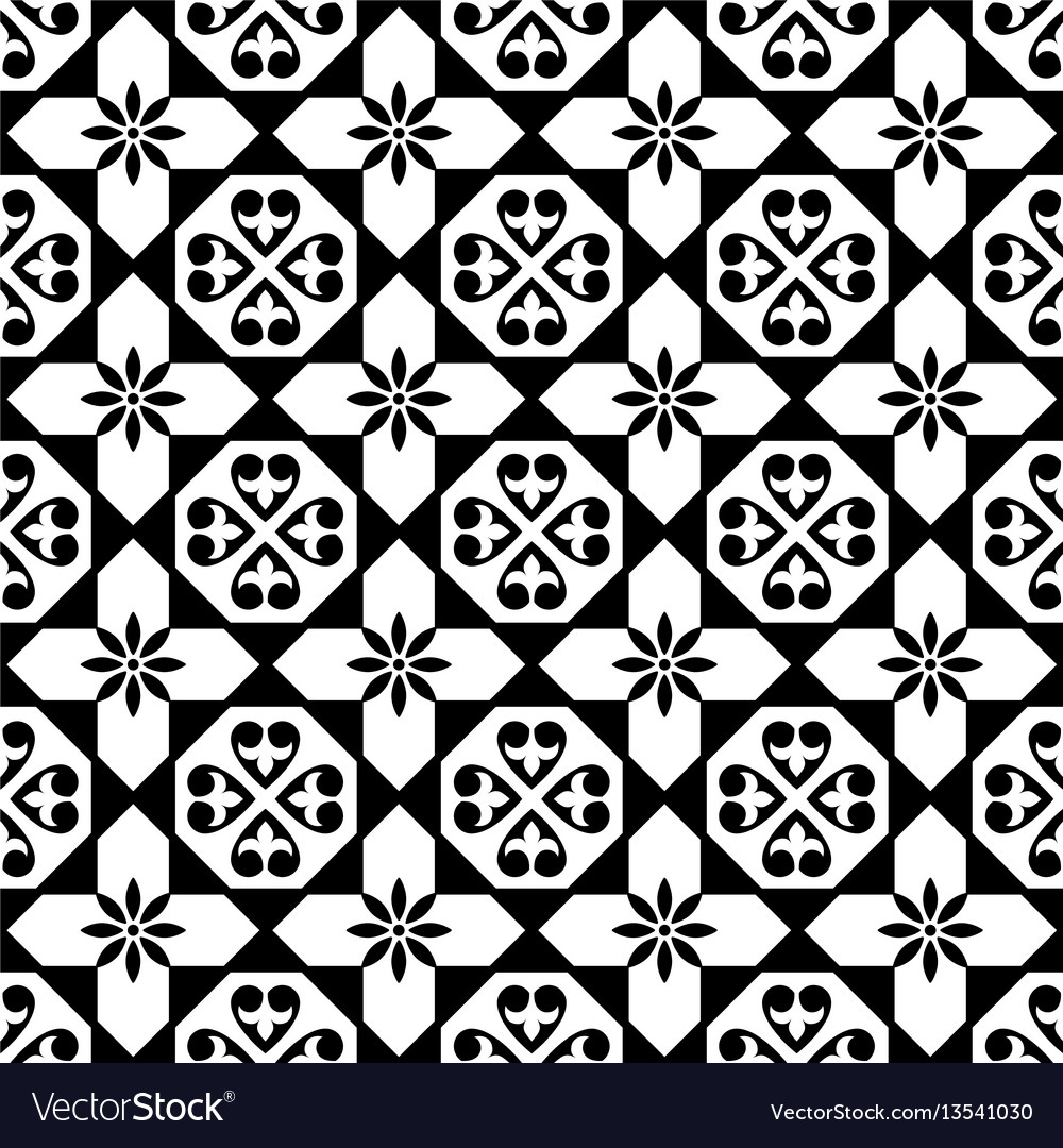 Spanish tiles pattern moroccan and portuguese