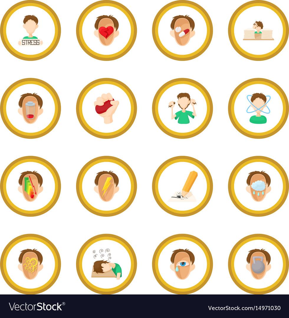 Stress icon circle