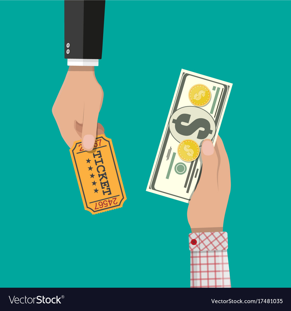 Buying and selling tickets vector image