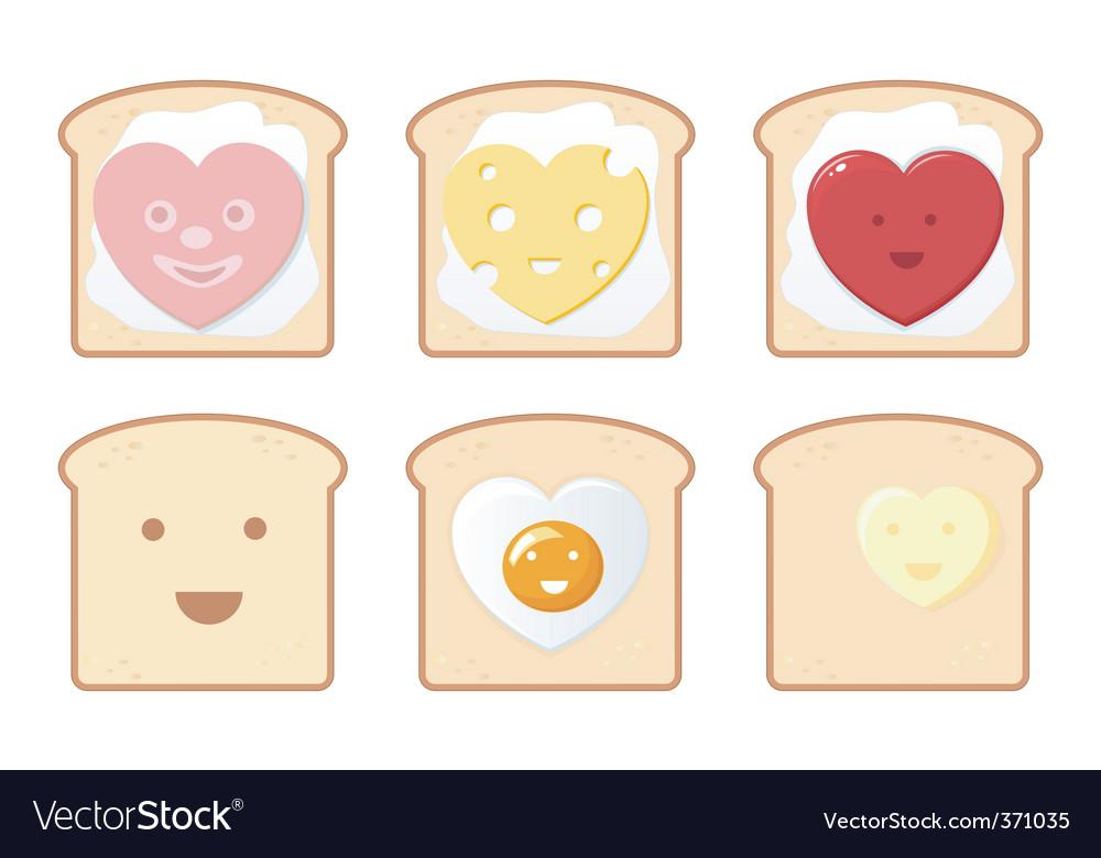Comic toast icons