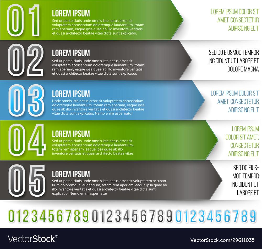 Green arrows infographics