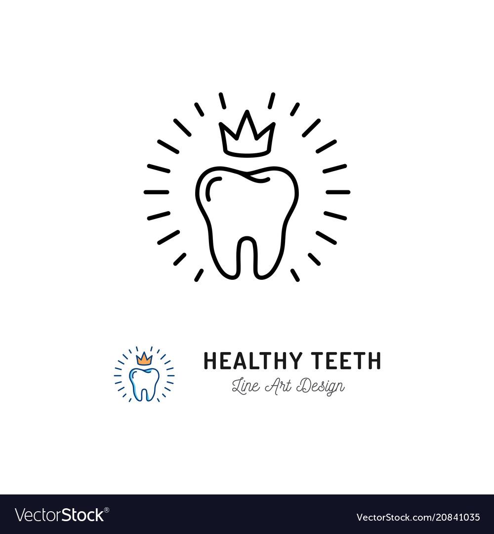 Healthy teeth icon dental care logo concept