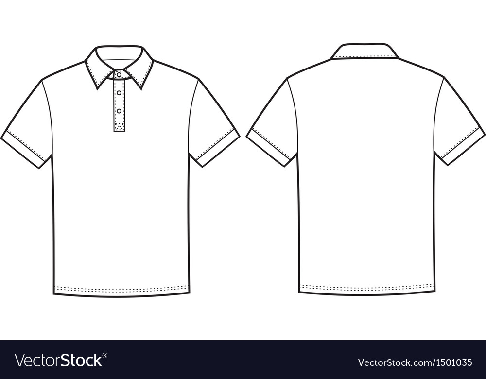 Polo T Shirt Royalty Free Vector Image