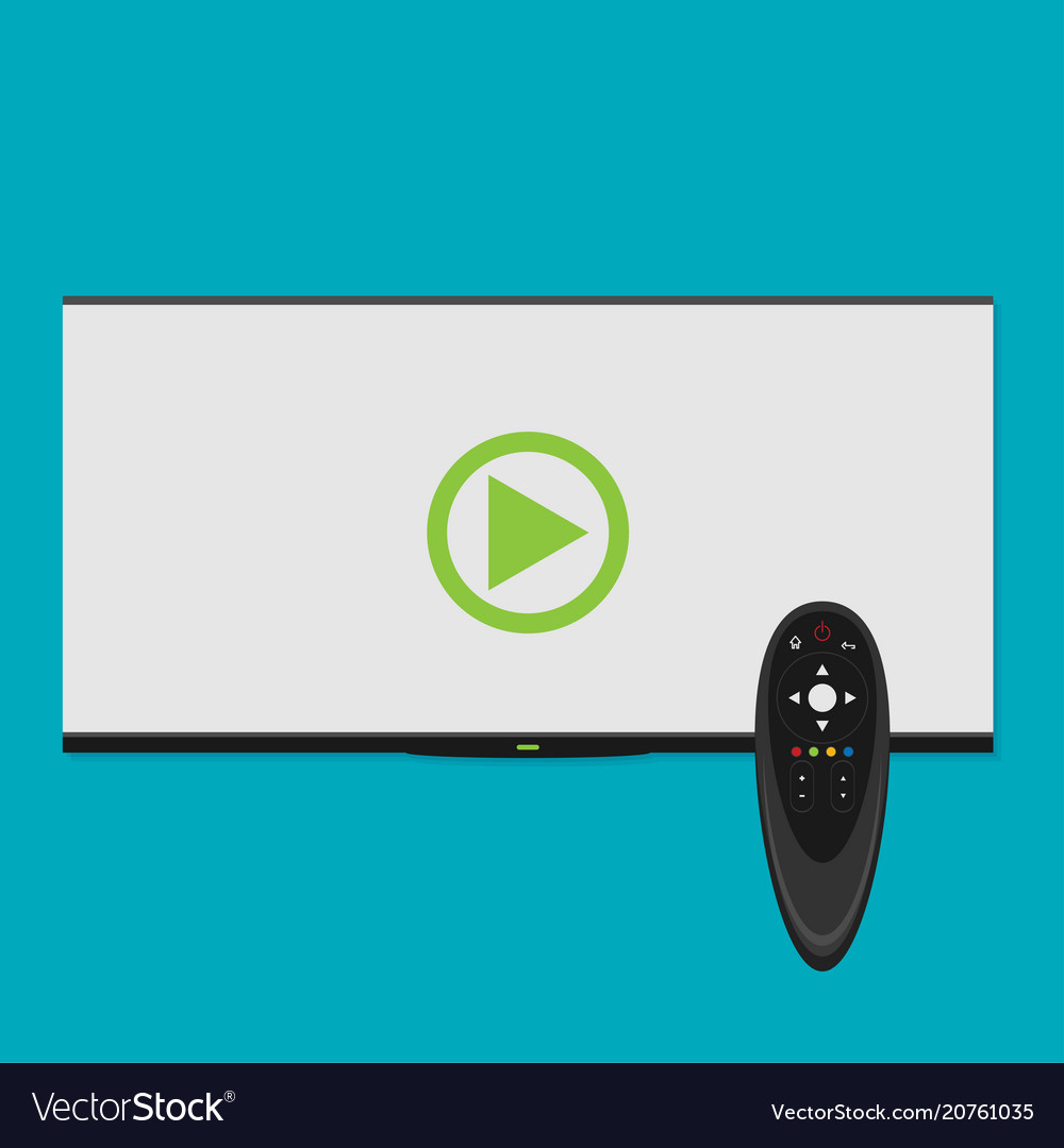 Smart tv concept - in flat style